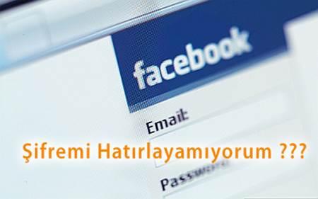 Facebook şifre kurtarma