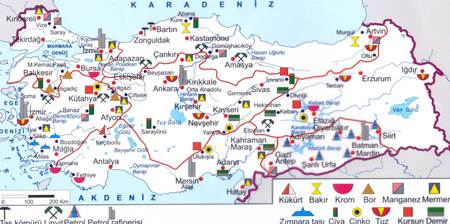 Türkiyede-cikarilan-madenler