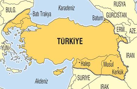 Türkiye'nin sınırları