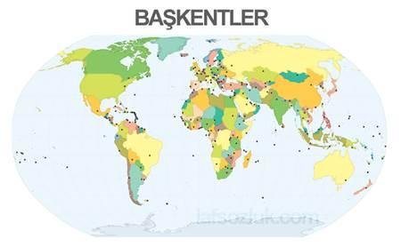 Tüm dünyada bilinen Asya ülkeleri ve başkentleri