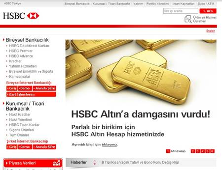 hsbc internet-bankacılığı