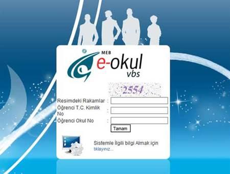 e-okul giriş sayfası