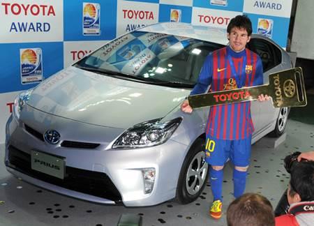 Messi Toyota Prius