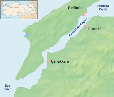 Canakkale Savaşı - Boğaz Resmi