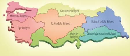 Türkiye Coğrafi Bölgeler 3D