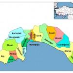 Antalya İlinin İlçeleri ve Antalya İlçelerinin Nüfusları