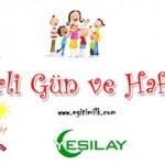 Türkiye ve Dünyada Belirli Gün ve Haftalar