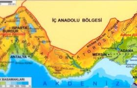 Akdeniz Bölgesi Dağları ve Yükseklikleri