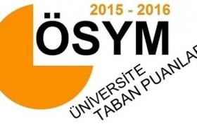 2015-2016 Üniversitelerin (4 Yıllık – 2 Yıllık) Taban Puanları