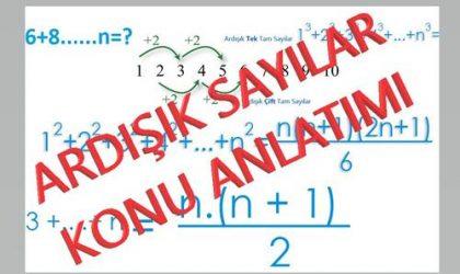 Ardışık Sayılar Konu Anlatımı, Örnek Soru ve Çözümler