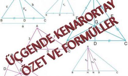 Kenarortay Ders Notu ve Formülleri