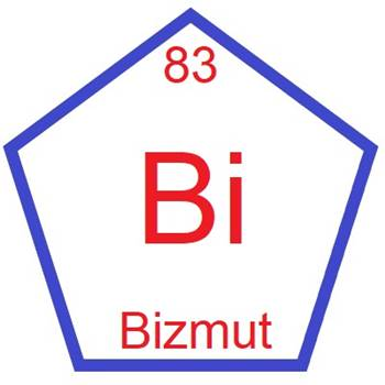 Image result for BİZMUT ELEMENTİ
